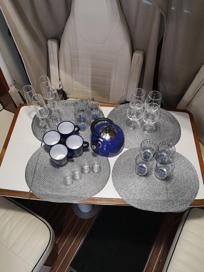 Vybavení obytného vozu- skleničky